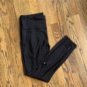 Lululemon Black 7/8 Fast and Free Tight Leggings
